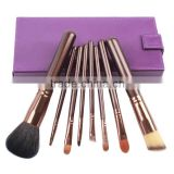 8pcs Purple Personalized Make up Brush Set With Makeup Mirror Box,private label vegan cosmetics