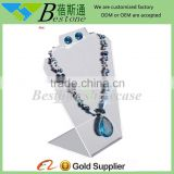 milk white acrylic jewelry display for necklace, acrylic body piercing jewelry display stand