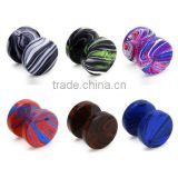 6pcs Assorted Wholesale Lot Bling Bling Fake Plug Illusion Tunnel Double Side Screw Stud Earrings