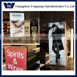 3P cloth print stretched fabric graphic light box, indoor shop lighting box, decorative light boxes