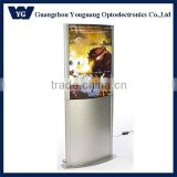 Stand curved ligght box/ Double sides free standing poster light box/free standing led light box