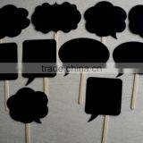 New Black Funny Props for Wedding Family Friends Gathering Photos Decoration Speech Bubble Board                                                                         Quality Choice