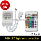 DC12V 24 Keys IR Remote Controller for SMD3528 SMD5050 RGB LED Strip LED Lights with RGB Control Bo Dimmer RGB Controller