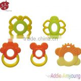 Baby Products Food Grade Silicone Baby Teether Ring, Funny Baby Teether