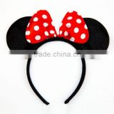 Minnie&Mickey mouse ears Headband/Hair Bows for Girls: for fancy dress parties H118