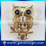 Brooch Wholesale Multicolor Crystal Rhinestone Owl Brooches Promotions High Quality Fashion Creative Christmas Gift B0040
