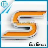 custom Auto DOME emblem chrome emblems 3m metal badge plastic emblems ABS Electroplated Sticker Auto Badge