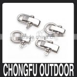 2015 colored High Quality Stainless Steel Anchor Shackles U shackle Bow shackles for paracord