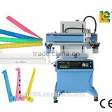 LC automatic flatbed screen printing machine with vacuum table for ruler paper bag