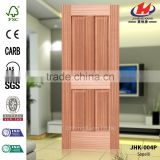 JHK-004P Low Price Accordion 4 Flat Panels America Apartment Livingroom Wood Sapelli Veneer Natural Door Skin