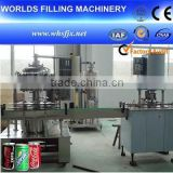 Automatic Carbonated Beverage Soft Drink Glass/ Bottle/ Tin Can Filling and Sealing Machine