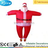 DJ-CO-120 Adult Chub Santa Inflatable Blow Up Color Full Body Christmas Costume Jumpsuit