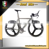 18 speed simple and fashionable road bike 3 spokes bicycle integrated wheel bicycle
