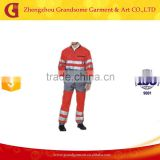 Flame Resistant Firefighting Coveralls Fire retardant Jumpsuit with tape