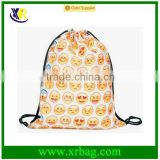 Women's Daypacks Printing Emoji Backpack For Travel Harajuku Drawstring Bag Wayuu Mochila Bags