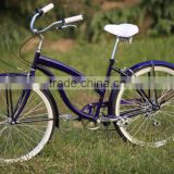 Hot selling colorful 26 size beach cruiser bike bicycle 6 gear single gear buy china bike