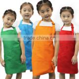 Promotional Non-woven Assorted Colors Children's Artists Aprons kids apron and chef hat