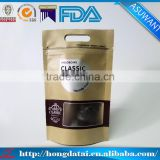 wholesale stand up pouch Kraft paper bag packaging with square clear window                                                                                                         Supplier's Choice