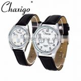 Chaxigo factory cheap fashion leather watch,couple watch,wholesale watches