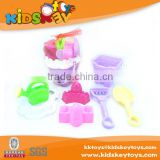 Kinds of set 7pcs beach toy play game plastic small beach toy tools beach bucket for children
