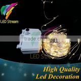 Waterproof Timer 10M 100 leds Silver copper wire string lights outdoor Christmas lighting
