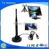 DVB-T active indoor digital TV satellite antenna with 170-230/470-862mhz and LED booster