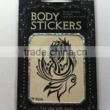 black white 3d tattoo sticker,sexy body tattoo sticker,skin tattoo sticker