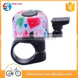 Colorful bicycle bell accessories bicycle finger bell,waterproof car horn