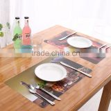 0.5mm pp dinner Washable durable disposable printed plastic table placemat