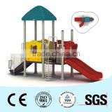 CE and RoHS qualified plastic slide kids playground equipment for school children