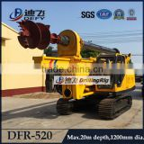 DFR-520 Hydraulic operated auger soil drilling equipment, hole drilling machines