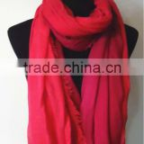 100% Cotton Gradient Color Scarf With Fringe