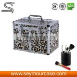 Aluminum Makeup Nail Box Jewelry Storage Case Built-in Mirror
