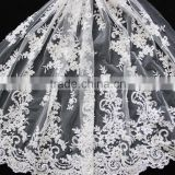 New fashion hand embroidery design with acc for wedding dress