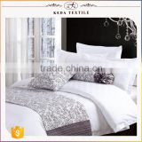 High quality hotel use 100% cotton plain dyed white color 300TC reactive egyptian cotton bed linen