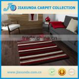 compiled of brown beige and red stripes wool acrylic mix hand tufted rug for living room