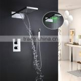 3 way diverter thermostaic valve led shower full set 22 in bathroom fittings made in china
