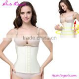 Summer Hot Selling 100% Latex Beige Corset Women Fitness Waist Trainer