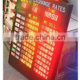 currency bank exchange rate led display, bank rate boards,LED Currency Exchange Rate/Interest rate Display board
