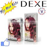 Dexe hair dye ammonia free hair color cram with 12 colors