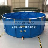INQUIRY about Blue round PVC tarpaulin 10000 liter portable fish tank