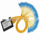 1x64 FTTH cassette optical splitter 1 64 plc splitter with high quality plc splitter chip