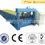 used PLC control galvanized steel 1024 roof tile panel cold rolling forming making machine with hydraulic uncoiler