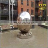 Large square park scenic city of decorative bronze sculpture of stainless steel hollow ball