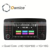 Ownice Wholesales Quad Core Android 4.4 auto headunit for Mercedes Benz R Class R300 built in wifi support rear camera