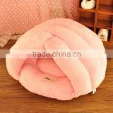 baby pink warmly plush dog bed princess dog bed