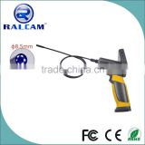 "3.5"" LCD display 1M insertion probe camera flexible video borescope for burner can inspection"