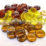 17-19mm colorful glass pebbles for fire pit
