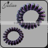 fashion telephone wire elastic Silicone rubber bands springs Gum for hair accessories capelli women FHHTA0021