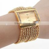 IPG gold chain rectangle luxury lady watch excellence quartz crystal women bracelet wrist watch
